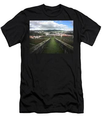 Angra Do Heroismo From The Fortress Of Sao Joao Baptista Men's T-Shirt (Athletic Fit)