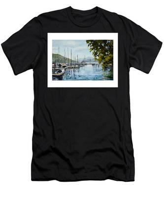 Attersee Austria Men's T-Shirt (Athletic Fit)