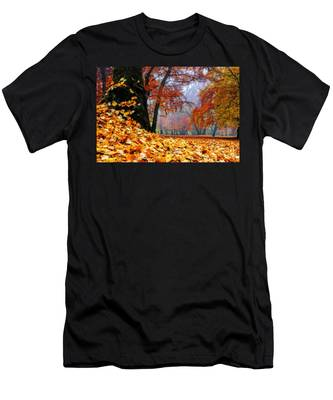 Autumn In The Woodland Men's T-Shirt (Athletic Fit)