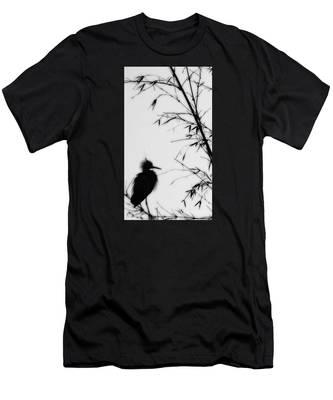 Baby Egret Waits Men's T-Shirt (Athletic Fit)