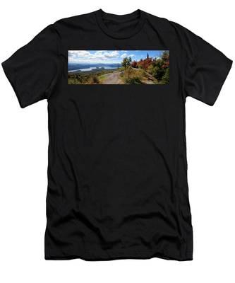 Bald Mountain Autumn Panorama Men's T-Shirt (Athletic Fit)
