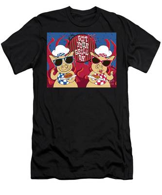Barbecue Pigs Men's T-Shirt (Athletic Fit)