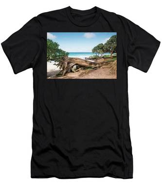 Beach Camping Men's T-Shirt (Athletic Fit)