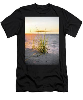 Men's T-Shirt (Athletic Fit) featuring the photograph Beach Grass by Brad Wenskoski