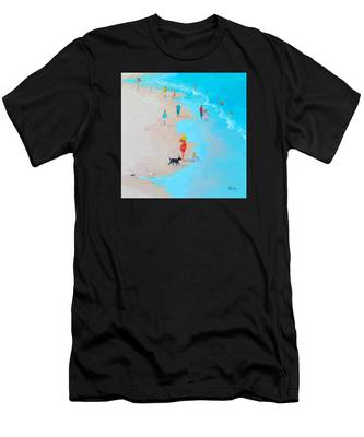 Beach Painting - Beach Day - By Jan Matson Men's T-Shirt (Athletic Fit)