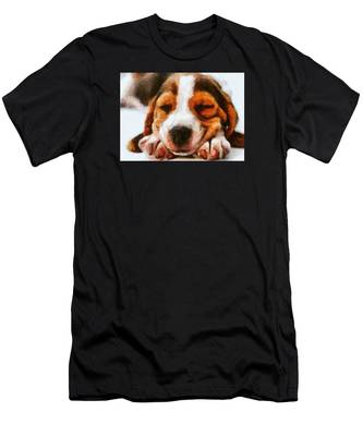 Beagle Puppy Men's T-Shirt (Athletic Fit)