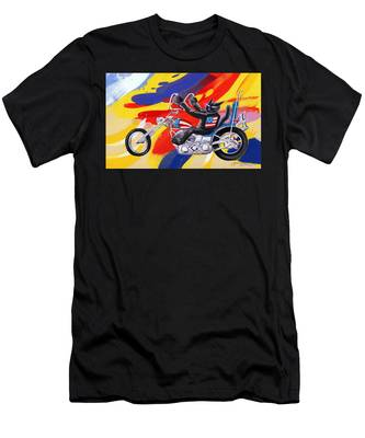 Biker Cat Men's T-Shirt (Athletic Fit)