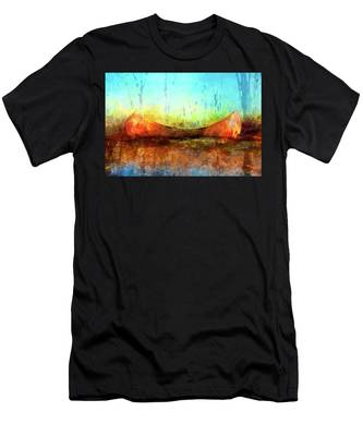 Birch Bark Canoe Men's T-Shirt (Athletic Fit)