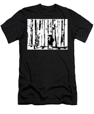 Birch Forest Black Men's T-Shirt (Athletic Fit)