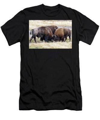 Bison Fight Men's T-Shirt (Athletic Fit)