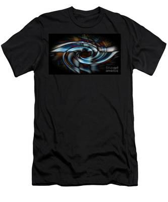Black And Blue Men's T-Shirt (Athletic Fit)