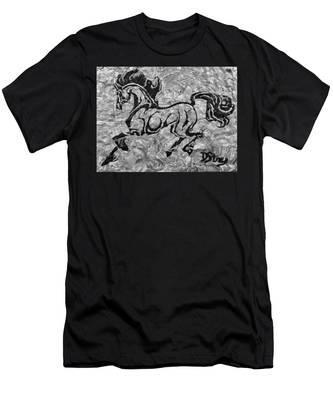 Black Jack Black And White Men's T-Shirt (Athletic Fit)