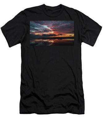 Bold Sunrise Delray Beach Florida Men's T-Shirt (Athletic Fit)