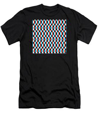 Brain Waves - Blue Men's T-Shirt (Athletic Fit)