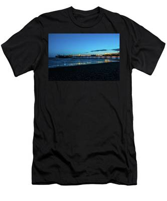 Brighton Pier At Sunset Ix Men's T-Shirt (Athletic Fit)