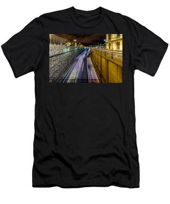 Busy Night In Barcelona Men's T-Shirt (Athletic Fit)