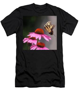 Butterfly And Coneflower Men's T-Shirt (Athletic Fit)