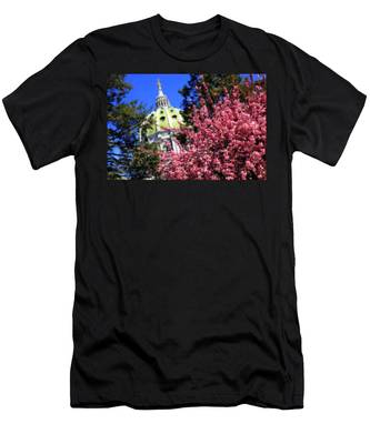 Capitol In Bloom Men's T-Shirt (Athletic Fit)