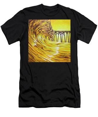 Carolina Beach North End Pier Men's T-Shirt (Athletic Fit)