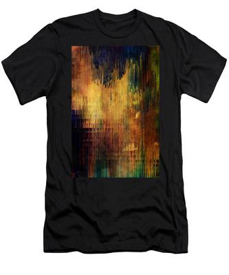 Castle View Planet Pixel Men's T-Shirt (Athletic Fit)