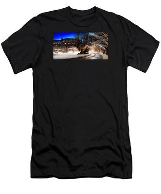 Celebrate The Winter Night Men's T-Shirt (Athletic Fit)