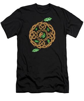 Celtic Nature Yin Yang Men's T-Shirt (Athletic Fit)