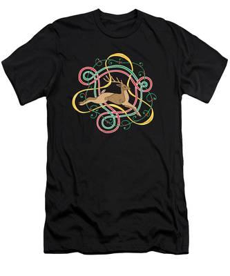 Celtic Reindeer Knots Men's T-Shirt (Athletic Fit)
