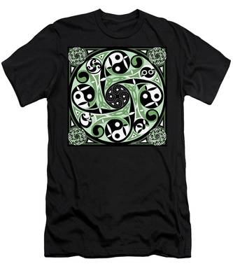 Celtic Spiral Stepping Stone Men's T-Shirt (Athletic Fit)