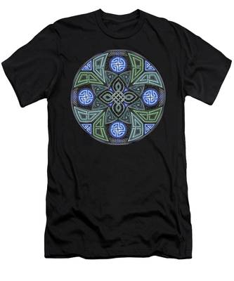 Celtic Ufo Mandala Men's T-Shirt (Athletic Fit)