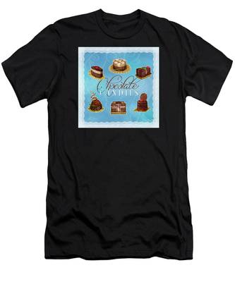 Chocolate Candies Men's T-Shirt (Athletic Fit)