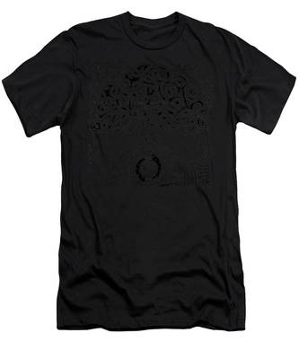 Circle Celtic Tree Of Life Inked Men's T-Shirt (Athletic Fit)