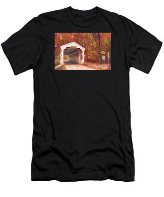 Covered Bridge At Valley Forge Men's T-Shirt (Athletic Fit)