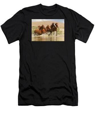 Dancing Waters Men's T-Shirt (Athletic Fit)