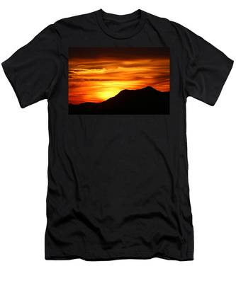 Men's T-Shirt (Athletic Fit) featuring the photograph Desert Sunset  by Christy Pooschke