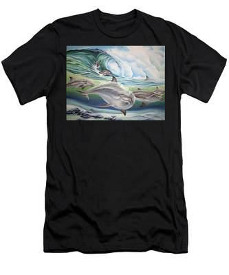 Dolphin 2 Men's T-Shirt (Athletic Fit)