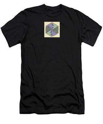 Doves Logo Color Men's T-Shirt (Athletic Fit)