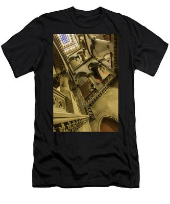 Men's T-Shirt (Athletic Fit) featuring the photograph Eastern Staircase by Brad Wenskoski