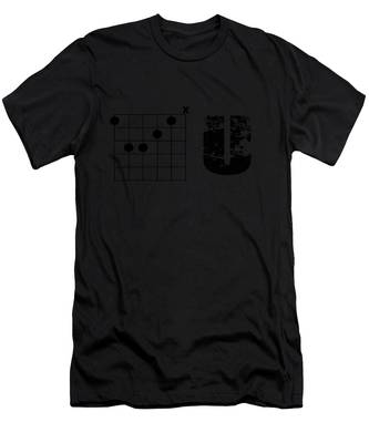 Men's T-Shirt (Athletic Fit) featuring the drawing F Chord U by Bill Cannon
