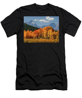 Fall In The Tetons Men's T-Shirt (Athletic Fit)