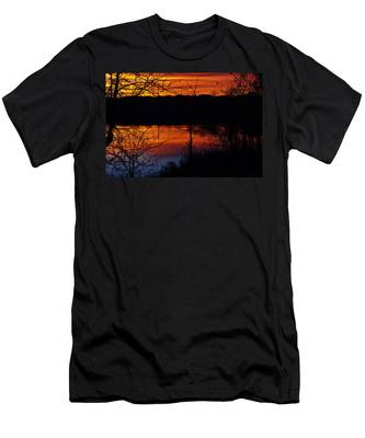 Fall Sunset Men's T-Shirt (Athletic Fit)