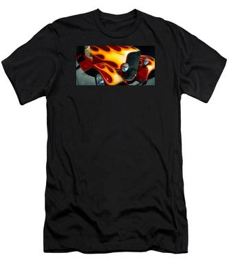 Flaming Hot Rod Men's T-Shirt (Athletic Fit)