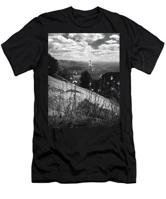 Flowers At The Top Of Table Rock Trail Men's T-Shirt (Athletic Fit)