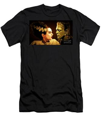 Frankenstein And The Bride I Have Love In Me The Likes Of Which You Can Scarcely Imagine 20170407 Men's T-Shirt (Athletic Fit)