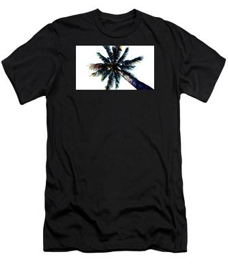 Frazzled Palm Tree Men's T-Shirt (Athletic Fit)