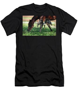 Men's T-Shirt (Athletic Fit) featuring the photograph Giddy Up. by Evelyn Garcia