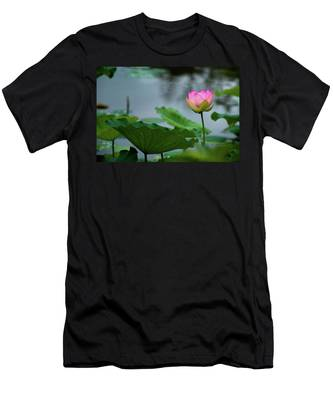 Men's T-Shirt (Athletic Fit) featuring the photograph Glowing Lotus Lily by Dennis Dame