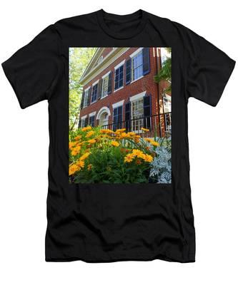 Golden Blooms At The Dahlonega Gold Museum Men's T-Shirt (Athletic Fit)