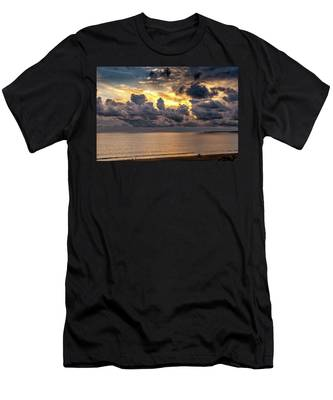 Golden Surf - Point Dume, California Men's T-Shirt (Athletic Fit)