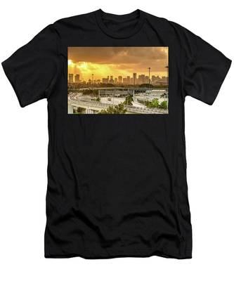 Miami City Sunrise Men's T-Shirt (Athletic Fit)