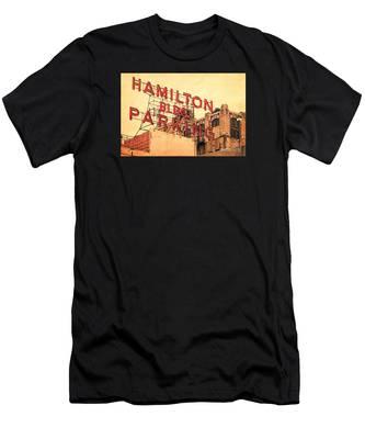 Hamilton Bldg Parking Sign Men's T-Shirt (Athletic Fit)
